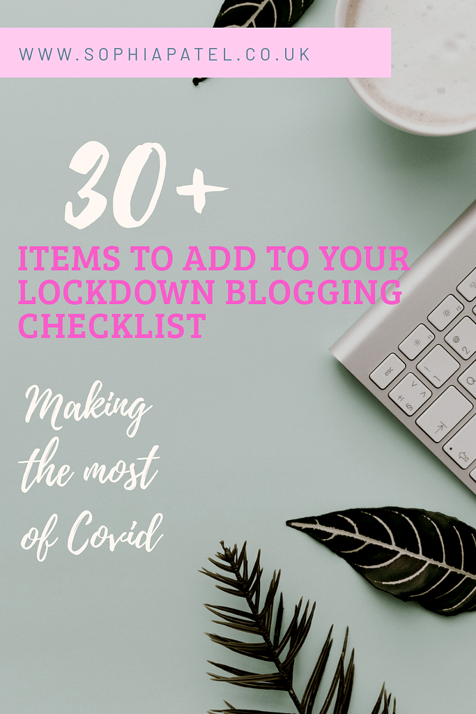 lockdown blogging checklist