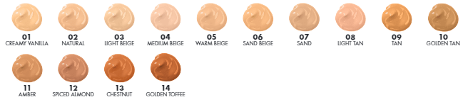 Milani Conceal + Perfect 2-In-1 Review  colour swatches