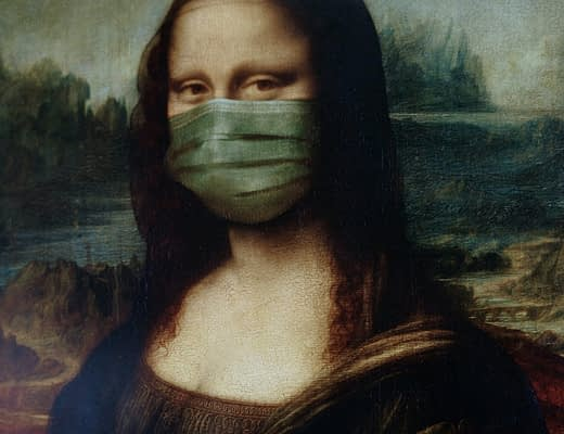 mona lisa covid lockdown