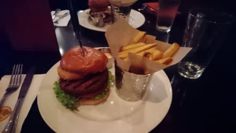 hard rock vegan burger